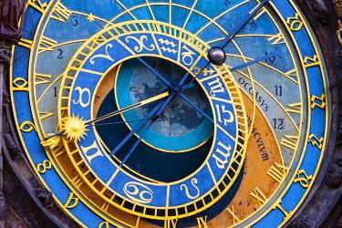 CZE1636AWRF Czech Republic, Prague, Stare Mesto (Old Town). Prague Astronomical Clock (Prague Orloj), on Old Town Square.
