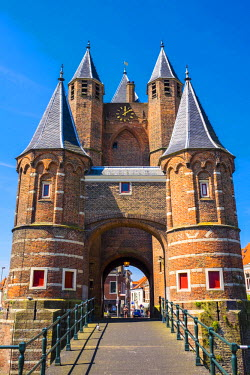 Netherlands, North Holland, Haarlem. The Amsterdamse Poort former city gate, last remaining of original twelve city gates.
