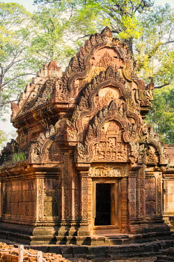 CMB1554AWRF Asia, Cambodia, Siem Reap, Angkor, Banteay Srei - hindu temples famous for their intricate carvings