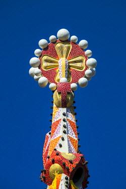 SPA7051AWRF Pinnacle of one of the towers of the Sagrada Familia church, Barcelona, Catalonia, Spain