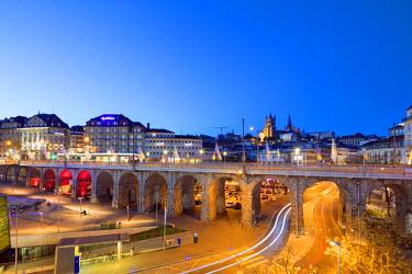 SWI7781 Europe, Switzerland, Vaud, Lausanne, city center