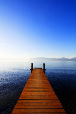 SWI7785 Europe, Switzerland, Vaud, Morges, Lake Geneva (Lac Leman), Tulip festival