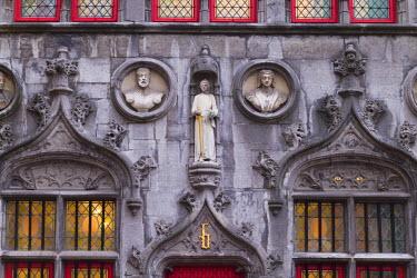 BE03040 Belgium, Bruges, Bruges town hall, exterior
