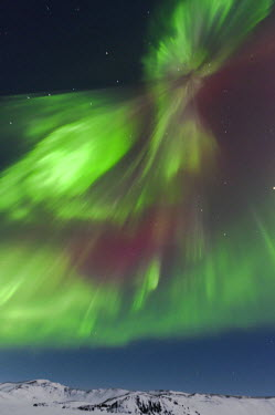 ICE3668RF The Aurora Borealis (Northern Lights), Lake Kleifarvatn near Reykjavik