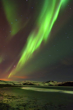 ICE3689 The Aurora Borealis (Northern Lights), Lake Kleifarvatn near Reykjavik