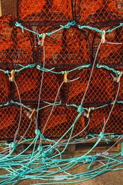 UK07821 UK, England, Norfolk, North Norfolk, Wells-next-the-Sea, Crab Pots