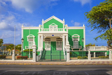 AA034RF Caribbean, Netherland Antilles, Aruba, Oranjestad, Former home of Dr Eloy Ahrends - now the present City Hall where weddings are performed.