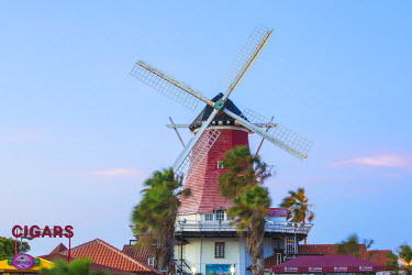 AA01117 Caribbean, Netherland Antilles, Aruba, Old Dutch Windmill