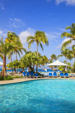 AA01126 Caribbean, Netherland Antilles, Aruba, Swimming pool at Renaissance resort and casino - Ocean Suites