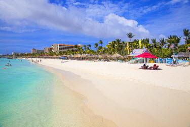 AA01127 Caribbean, Netherland Antilles, Aruba, Palm beach