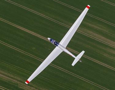 IBLBLO03163441 ASK 21 training glider, Aerial view of Dorsten, North Rhine-Westphalia, Germany