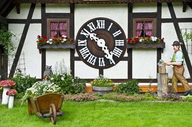 Largest cuckoo clock in the world, Schonach, Black Forest, Baden-Wuerttemberg, Germany