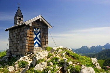 IBLDJS02332643 Freudenreich chapel at Mt Brecherspitz, Spitzingsee Lake, Schliersee, Bavaria, Germany