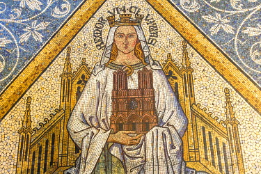 IBLGAB03807795 Floor mosaic, Cologne Cathedral, UNESCO World Heritage Site, North Rhine-Westphalia, Germany