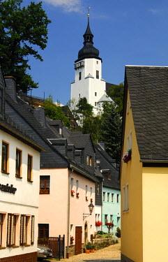 IBLGVA00746787 St. Georgen Church, Schwarzenberg, Erzgebirge, Saxony, Germany