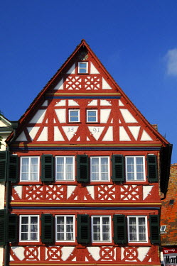 IBLGVA00985303 Half-timbered building at the market square, Oehringen, Baden-Wuerttemberg, Germany
