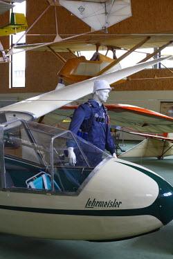 IBLMAN00929260 Airplanes, Deutsches Segelflugmuseum Wasserkuppe, German Gliding Museum Wasserkuppe, Rhoen, Hesse, Germany