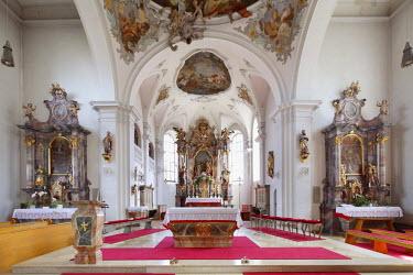 IBLMAN01997665 Parish Church of St. John the Baptist, Peissenberg, Pfaffenwinkel, Upper Bavaria, Bavaria, Germany