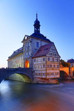 IBLMAN02020175 Old Town Hall, Regnitz, Bamberg, Upper Franconia, Franconia, Bavaria, Germany