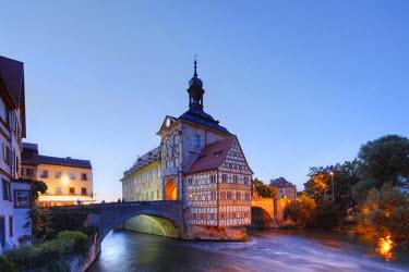 IBLMAN02020176 Old Town Hall, Regnitz, Bamberg, Upper Franconia, Franconia, Bavaria, Germany