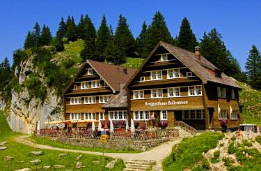IBLGVA01648882 Bollenwees mountain inn, Bruelisau, canton of Appenzell Innerrhoden, Appenzell Inner Rhodes, Switzerland