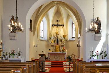 IBLHAN00723111 Interior view of the Romanesque church in Hernstein, Triesingtal (Triesing Valley), Lower Austria, Austria