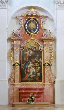 IBLHAN00723211 Barbara altar, Mariazell Cloister, Klein-Mariazell, Triestingtal (Triesting Valley), Lower Austria, Austria