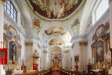 IBLMAN01681111 Maria Langegg pilgrimage church, Dunkelsteinerwald, Wachau, Mostviertel region, Lower Austria, Austria