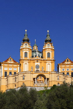 IBLMAN01681118 Melk Abbey or Stift Melk, Wachau, Mostviertel quarter, Lower Austria, Austria