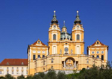 IBLMAN01681119 Melk Abbey or Stift Melk, Wachau, Mostviertel quarter, Lower Austria, Austria