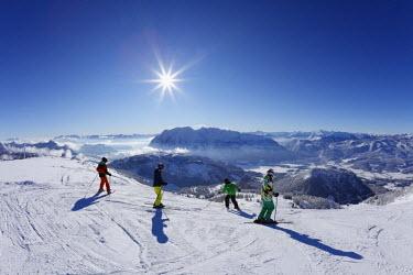 IBLMAN02200224 Tauplitz skiing area, Tauplitzalm alp, Grimming in the middle, Bad Mitterndorf, Ausseerland, Salzkammergut, Styria, Austria