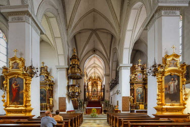 IBLMAN02353253 Collegiate church, Schlaegl Abbey, Premonstratensian monastery, Muelhlviertel region, Upper Austria, Austria