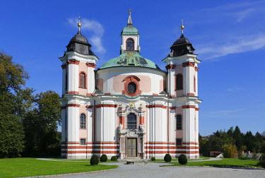IBLMAN02402748 Holy Trinity or Paurakirche pilgrimage church, Lambach, Traunviertel area, Upper Austria, Austria