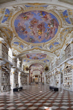 IBLMAN03758346 Abbey Library, Benedictine Abbey of Admont, Admont, Styria, Austria