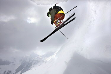 IBLVCH01124895 Freestyle skier jumping, Northern Tyrol, Austria