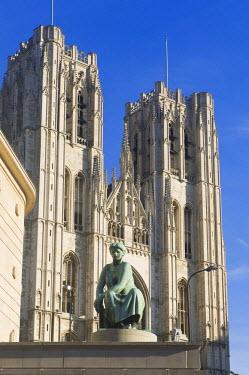 IBLGAB01169596 St. Michael and St. Gudula Cathedral, Brussels, Brabant, Belgium
