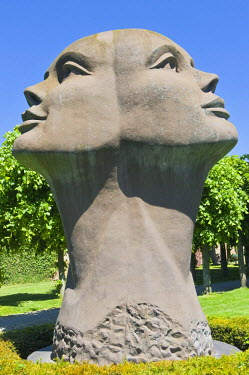 IBLGAB01598244 Blik Van Licht, statue by Charles Delporte, Damme, West Flanders, Belgium