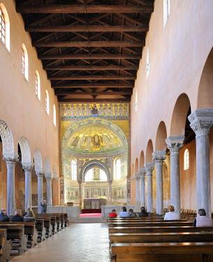 IBLHAN01399602 Nave of the Euphrasian Basilica in Porec, Croatia