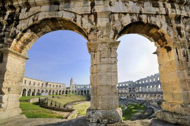 IBLHAN01399641 Roman amphitheatre of Pula, Croatia