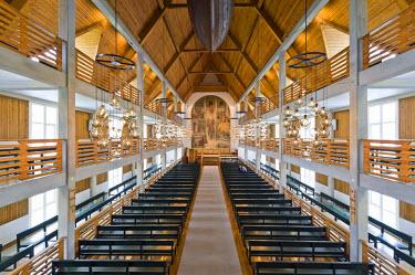 IBLOMK01947086 Christianskirkjan, Christian Church, Klaksvik,  Faroe Islands, North Atlantic