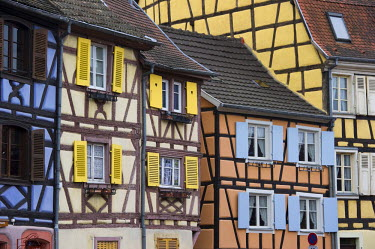 IBLDJS02077261 Half-timbered houses, Petite Venise, Little Venice, old town of Colmar, Alsace, France