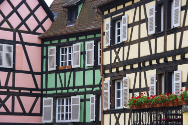 IBLDJS02077262 Half-timbered houses, Petite Venise, Little Venice, old town of Colmar, Alsace, France