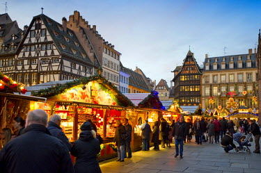 IBLDJS02144833 Christmas market in Colmar, Alsace, France