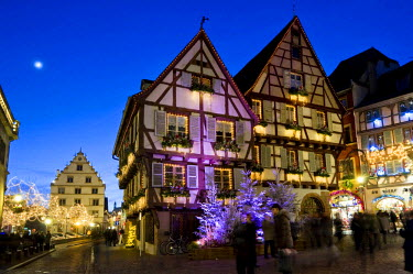 IBLDJS02144862 Dusk, Christmassy and wintery Colmar, Alsace, France