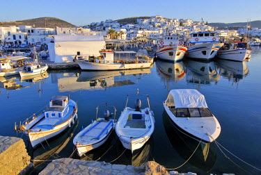 IBLGZS01020768 Fishing boats in the port of Naoussa, Paros, Cyclades, Greece
