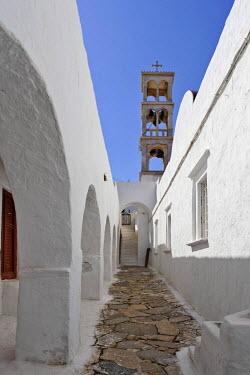 IBLHAN00594044 Marble bell tower (19 century) at the Panajia-Tourliani monastery, Ano Mera, Myconos, Greece