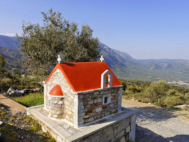 IBLHAN00624571 Chapel on the road to Lasithi Plateau, Crete, Greece