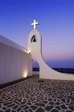 IBLSHU01992354 Agia Sophia Chapel at dusk, magic hour, Faliraki, Rhodes, Greece