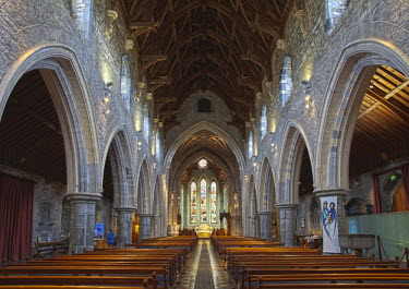 IBLMAN01572731 Interior view of St. Cainnech Cathedral or St. Canice's Cathedral, Kilkenny, County Kilkenny, Ireland