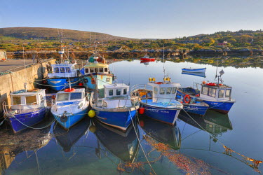IBLMAN01575747 Fishing boats in Ballycrovane Harbour, Eyeries, Beara Peninsula, County Cork, Ireland